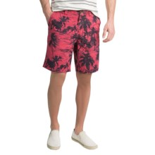 True Grit Vintage The Palms Signature Shorts (For Men) in Vintage Red - Closeouts