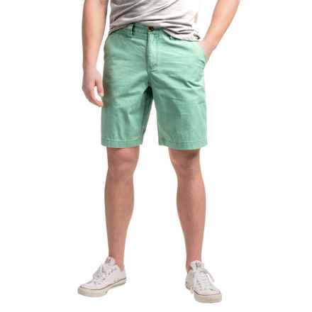 True Grit Vintage-Washed Chino Shorts (For Men) in Fresh Green - Closeouts