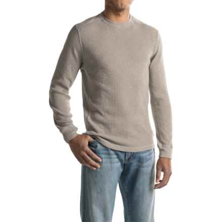 True Grit Waffle-Knit Thermal Shirt - Smooth Sides, Long Sleeve (For Men) in Smoke - Closeouts