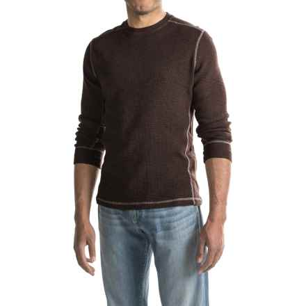 True Grit Waffle-Knit Thermal Shirt - Smooth Sides, Long Sleeve (For Men) in Vintage Black - Closeouts