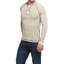 True Grit Waffle Thermal Henley Shirt - Long Sleeve (For Men) in Vintage Chalk - Closeouts