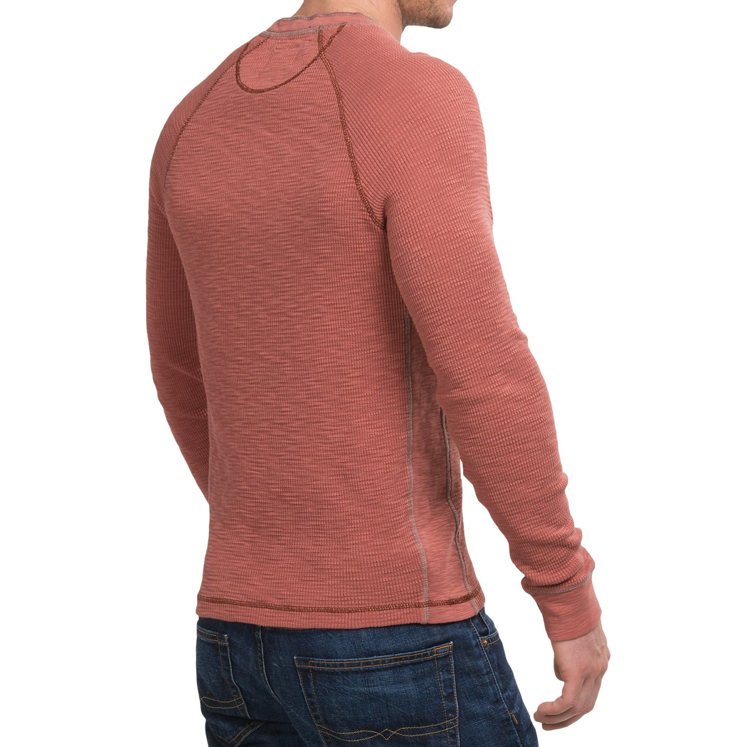 True grit waffle thermal henley shirt for men save 69 for Men s thermal henley long sleeve shirts