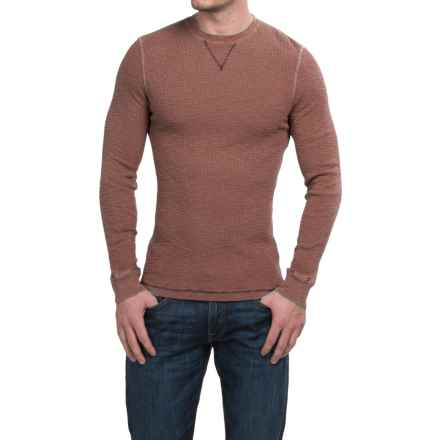True Grit Waffle Thermal Shirt - Crew Neck, Long Sleeve (For Men) in Brick - Closeouts