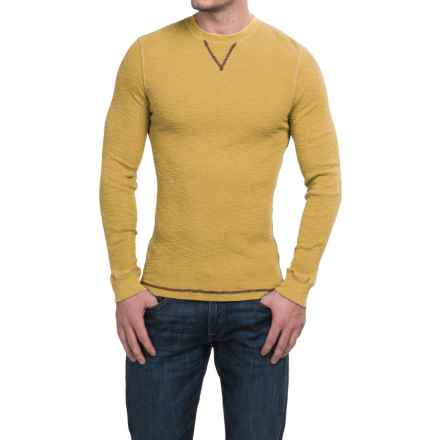 True Grit Waffle Thermal Shirt - Crew Neck, Long Sleeve (For Men) in College Yellow - Closeouts
