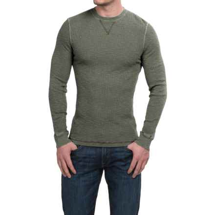 True Grit Waffle Thermal Shirt - Crew Neck, Long Sleeve (For Men) in Jeep - Closeouts