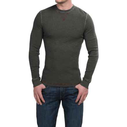 True Grit Waffle Thermal Shirt - Crew Neck, Long Sleeve (For Men) in Vintage Black - Closeouts