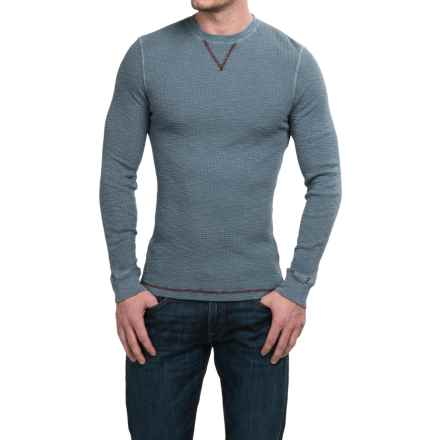 True Grit Waffle Thermal Shirt - Crew Neck, Long Sleeve (For Men) in Vintage Indigo - Closeouts