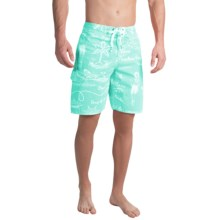 True Grit Waterman Hula Girl Boardshorts (For Men) in Aqua - Closeouts