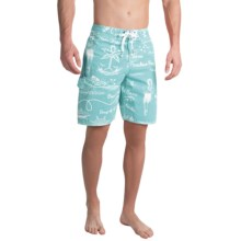 True Grit Waterman Hula Girl Boardshorts (For Men) in Blue - Closeouts