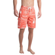True Grit Waterman Hula Girl Boardshorts (For Men) in Red - Closeouts