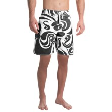 True Grit Waterman Mai Tai Boardshorts (For Men) in Black - Closeouts