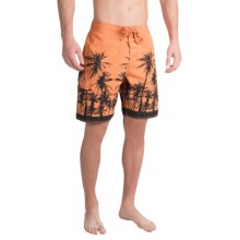 True Grit Waterman Paradise Palms Boardshorts (For Men) in Papaya - Closeouts