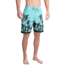 True Grit Waterman Paradise Palms Boardshorts (For Men) in Soft Blue - Closeouts