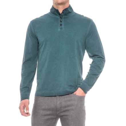 True Grit Weathered Henley Shirt - Long Sleeve (For Men) in Industrial Blue - Closeouts