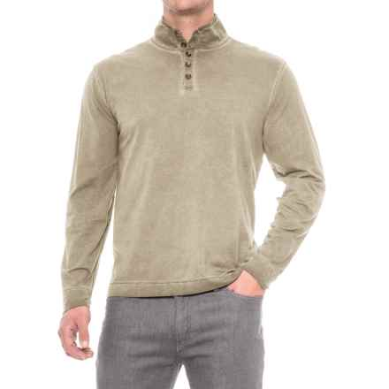 True Grit Weathered Henley Shirt - Long Sleeve (For Men) in Pebble - Closeouts