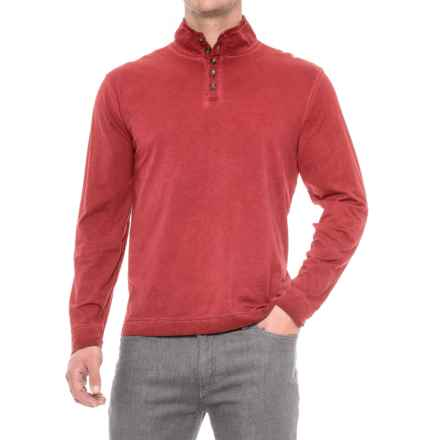 True Grit Weathered Henley Shirt - Long Sleeve (For Men) in Vintage Red - Closeouts