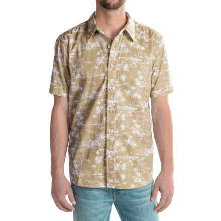 True Grit Wild Palms Shirt - Short Sleeve (For Men) in Khaki - Closeouts