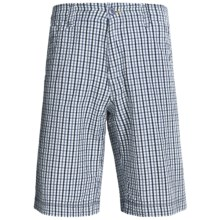 True Grit Woven Paddle Shorts (For Men) in Bluewater Plaid Blue - Closeouts