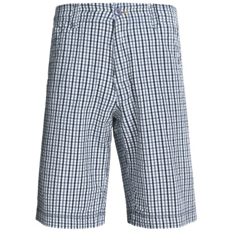 True Grit Woven Paddle Shorts (For Men) in Bluewater Plaid Blue