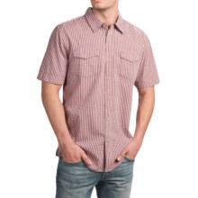 True Grit X-Check Shirt - Short Sleeve (For Men) in Faded Red - Closeouts
