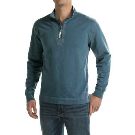 True Grit Zip Neck Jersey Shirt - Long Sleeve (For Men) in Industrial Blue - Closeouts