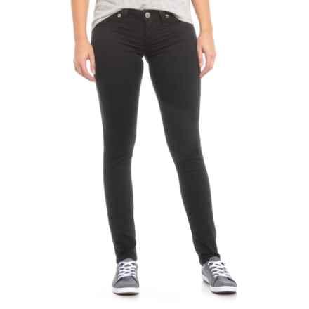 True Religion Black Skinny Flap Pocket Jeans (For Women) in Black - Closeouts