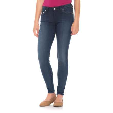 True Religion Curvy Skinny Jeans with Crystal Pockets (For Women) in Etxd Deepest Indigo - Closeouts