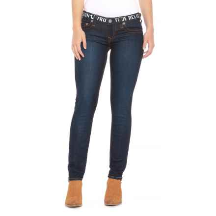 True Religion Skinny Logo Jeans (For Women) in 11 Lonestar - Closeouts