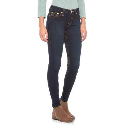 True Religion Trim Detail Curvy Skinny Jeans (For Women) in Lonestar - Closeouts