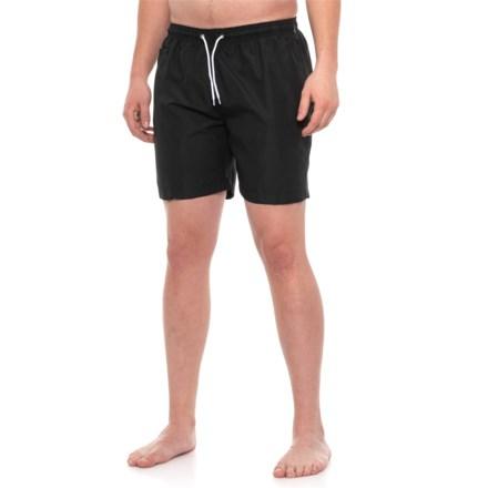 852312f7b8 Trunks Surf & Swim Co Black Sano Solid Swim Trunks (For Men) in Black