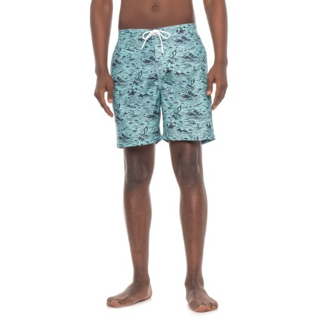 Trunks Surf & Swim Co Island Grove Boardshorts (For Men) in Ocean Blue/Marine