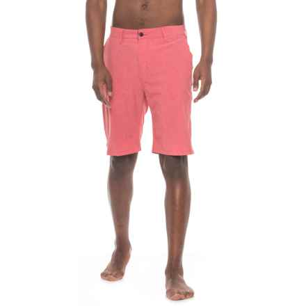 Trunks Surf & Swim Co Multi-Functional Slub Swim Trunks (For Men) in Coral - Closeouts