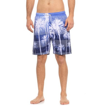 998574fe9f Trunks Surf & Swim Co PHOTO STRIPE BLUE PALMS PRINT SWIM TRUNK (For Men)
