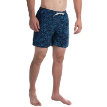 "Trunks Surf & Swim Co. San O Print Swim Trunks - 7"" (For Men) in Marine/Blue Sea - Closeouts"