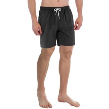 "Trunks Surf & Swim Co. San O Solid Swim Trunks - 7"" (For Men) in Black - Closeouts"