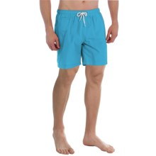"Trunks Surf & Swim Co. San O Solid Swim Trunks - 7"" (For Men) in Water - Closeouts"