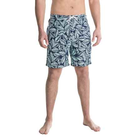 "Trunks Surf & Swim Co. Swami Print Swim Trunks - 8"" (For Men) in Skyblue/Marine - Closeouts"