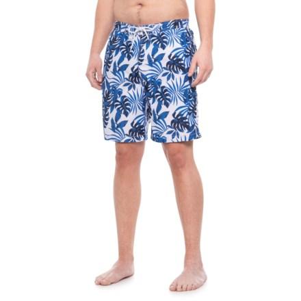b3882d5f2c4 Trunks Surf & Swim Co Swami Short Palm Printed Swim Trunks (For Men) in
