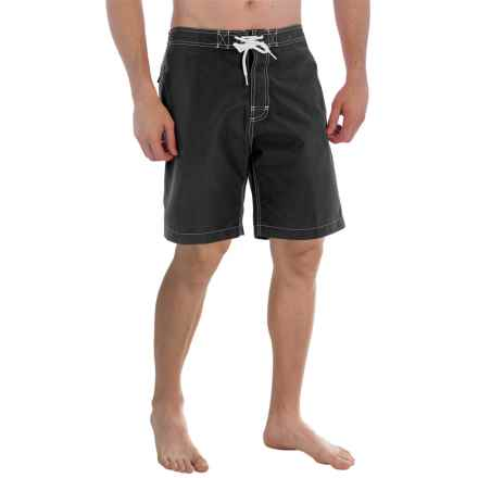 "Trunks Surf & Swim Co. Swami Solid Swim Trunks - 8"" (For Men) in Black - Closeouts"