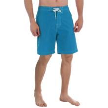"Trunks Surf & Swim Co. Swami Solid Swim Trunks - 8"" (For Men) in Blue Sea - Closeouts"