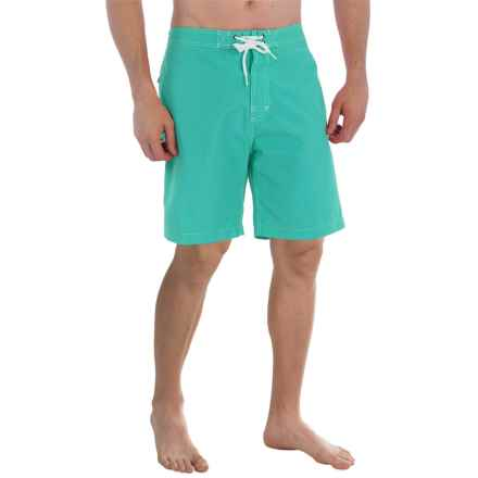 "Trunks Surf & Swim Co. Swami Solid Swim Trunks - 8"" (For Men) in Lagoon - Closeouts"