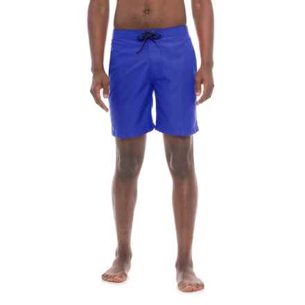 """Trunks Surf & Swim Co Swami Solid Swim Trunks - 8"""" (For Men) in Royalty/White - Closeouts"""