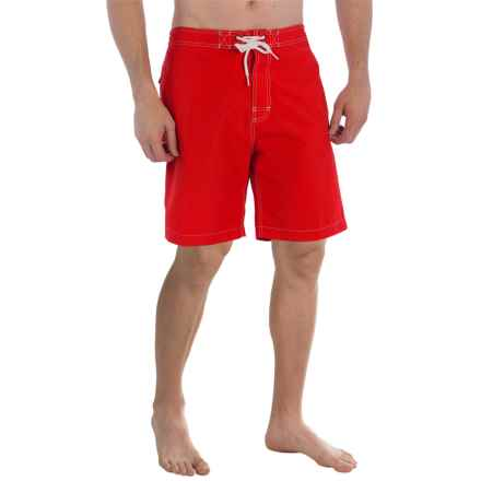 "Trunks Surf & Swim Co. Swami Solid Swim Trunks - 8"" (For Men) in Salsa - Closeouts"