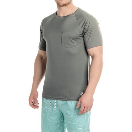Trunks Surf & Swim Co Swim T-Shirt - UPF 20+, Short Sleeve (For Men) in Frost Grey