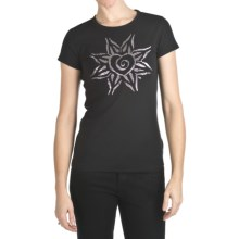 Trust Your Journey Free Heart T-Shirt - Organic Cotton, Short Sleeve (For Women) in Black - Closeouts