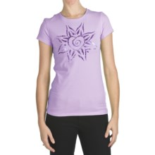 Trust Your Journey Free Heart T-Shirt - Organic Cotton, Short Sleeve (For Women) in Lavender - Closeouts