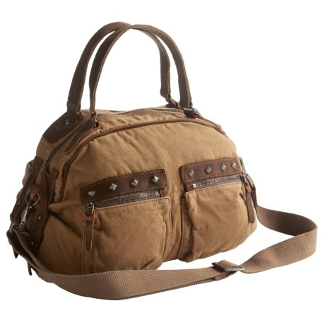 TSD Fiddle Bow Satchel (For Women) in Camel