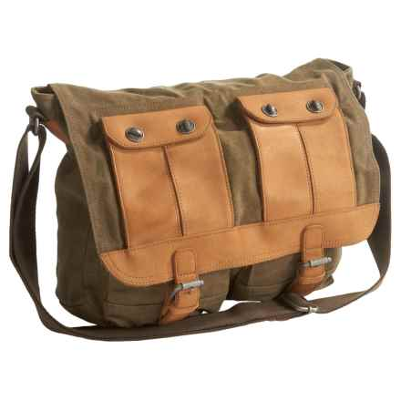 TSD Valley River Messenger Bag (For Women) in Olive - Closeouts