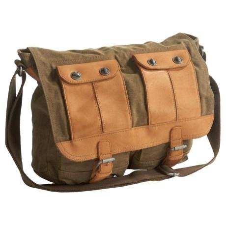 TSD Valley River Messenger Bag (For Women) in Olive