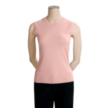 TSE Cashmere Crew Neck Shell - Sleeveless (For Women) in Blush - Closeouts